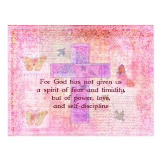 2 Timothy biblische Zitat-Schrift des 1 7 Postkarte
