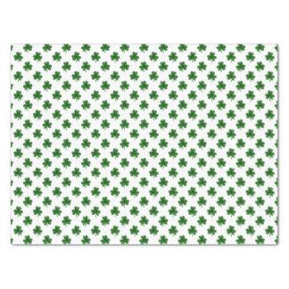 2-Ton Kleeblatt-Grün auf weißen St Patrick Klee Seidenpapier