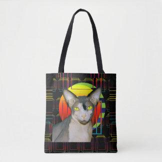 2 versah Katzen-Tasche Sphynx und Devon Rex auf Tasche