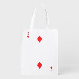 2 von Diamanten Wiederverwendbare Einkaufstasche