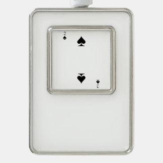 2 von Spaten Rahmen-Ornament Silber