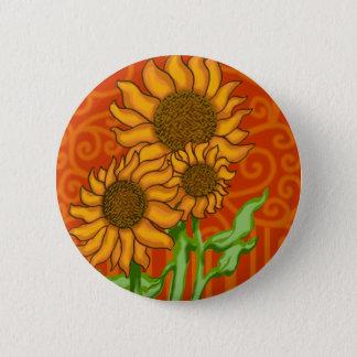 2 Zoll rundes Knopf-/Sonnenblume-Trio Runder Button 5,7 Cm
