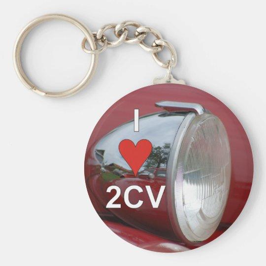 2CV Ente Scheinwerfer I love Schlüsselanhänger