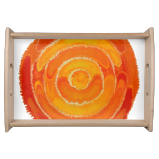 2nd-Sacral Chakra heilende orange Grafik #1 Serviertablett