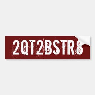 2QT2BSTR8 - - Art #2 Autoaufkleber