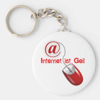 2sb8x7l, Internet ist Geil Standard Runder Schlüsselanhänger