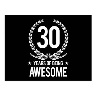 30. Geburtstag (30 Jahre des Seins fantastisch) Postkarte