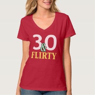30. Geburtstag 30 und kokettes T-Shirt