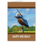 30. Geburtstag, Pelikan mit Golfball-Karte Karte