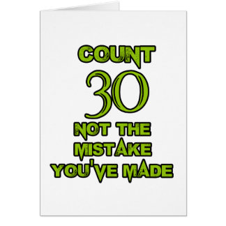 30-Geburtstags-Entwurf Karte