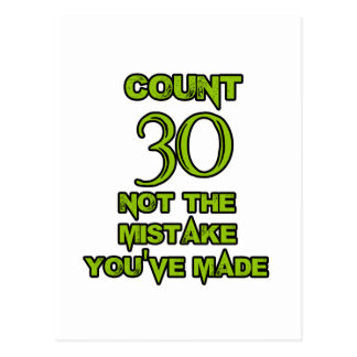 30-Geburtstags-Entwurf Postkarte