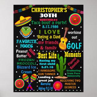 30. Geburtstags-erwachsenes Fiesta Mexical Poster