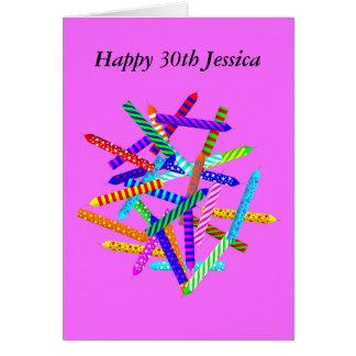 30. Geburtstags-Geschenke Karte