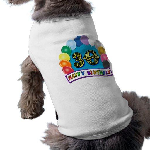 30. Geburtstags-Geschenke mit sortiertem Ballon-En Hund Tshirt