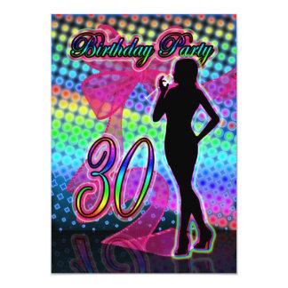 30. Geburtstags-Party Einladung, Neon mit 12,7 X 17,8 Cm Einladungskarte