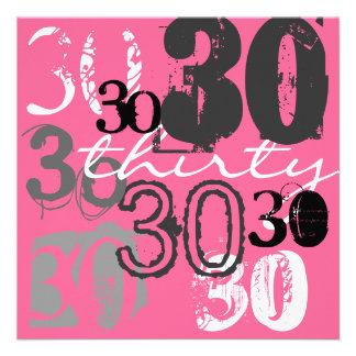 30 Geburtstags-Party Einladungen