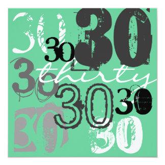 30. Geburtstags-Party Einladungen