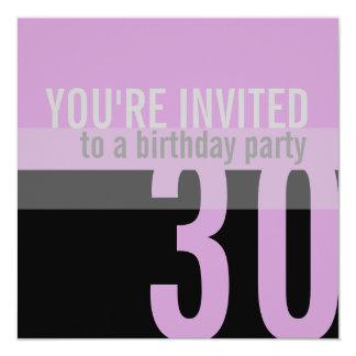 30. Geburtstags-Party Einladungen {lila}