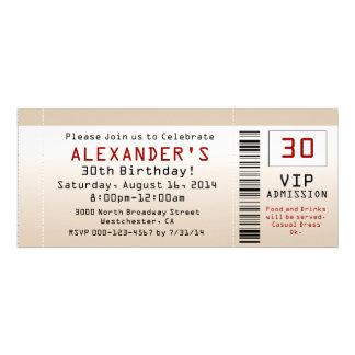 30 Geburtstags-Party Einladungs-Sand-Karte