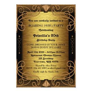 30., Geburtstags-Party, Frau, Gatsby Art, 12,7 X 17,8 Cm Einladungskarte