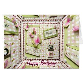 30. Geburtstags-Tochter Grußkarte