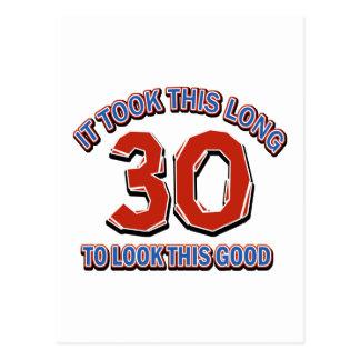 30. Geburtstagsentwurf Postkarte
