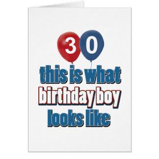 30. Geburtstagsentwürfe Karte