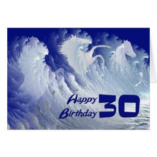 30. Geburtstagskarte mit wilden weißen Karte