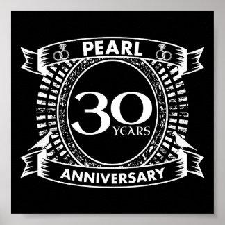 30. Hochzeitsjahrestags-Perlen-Wappen Poster