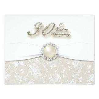 30. Hochzeitstag-Einladung 10,8 X 14 Cm Einladungskarte