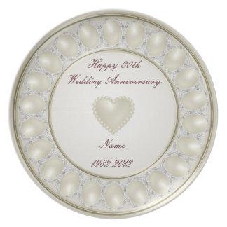 30. Hochzeitstag-Melamin-Platte Melaminteller