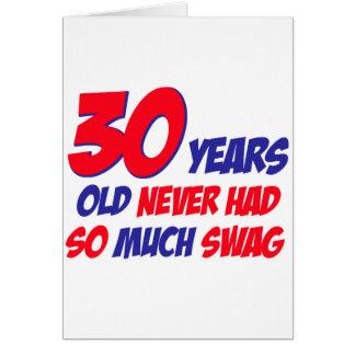 30 Jahre alte Geburtstagsentwurf Karte