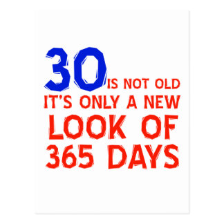 30 Jahre alte Geburtstagsentwürfe Postkarte