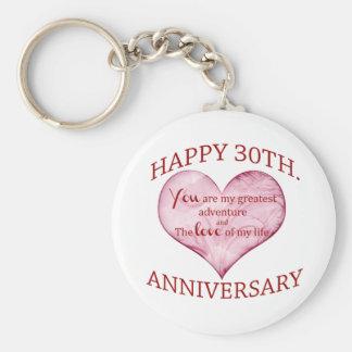 30. Jahrestag Schlüsselanhänger
