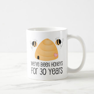 30. Jahrestags-Paar-Geschenk Tasse