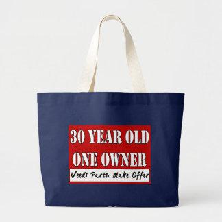 30 Jährige, ein Inhaber - die Bedarfs-Teile, Jumbo Stoffbeutel