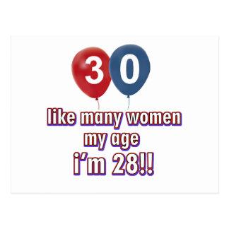 30 jährige Frauenentwürfe Postkarte
