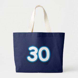30-jähriger Geburtstag oder Jahrestag - addieren Jumbo Stoffbeutel