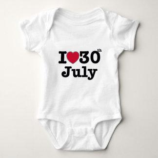 30. Juli mein Tag des Geburtstages Baby Strampler