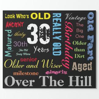 30. Meilenstein DIY Alters-| alles- Gute zum Geschenkpapier