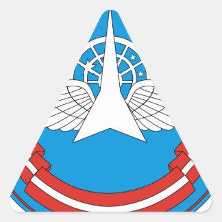30. Militärische zentrale wissenschaftliche Dreieckaufkleber