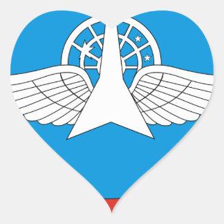 30. Militärische zentrale wissenschaftliche Herz-Aufkleber