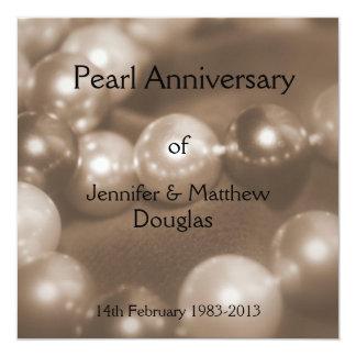 30. Perlen-Hochzeitstag Celebaration Karte