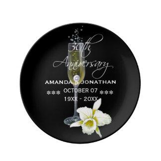30. Perlen-Hochzeitstag Gedenk Teller