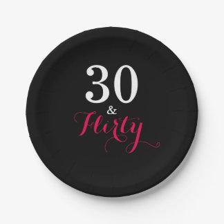 30 und koketter Geburtstags-Party-Papier-Teller Pappteller