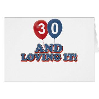 30 und Lieben es Karte