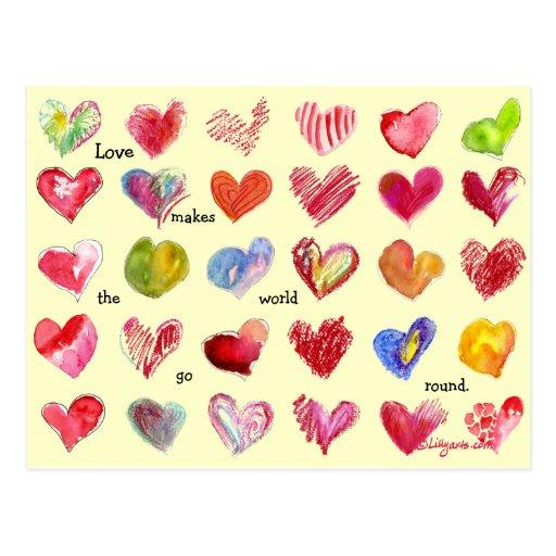 30 Valentinsgruß-Herz-Postkarte
