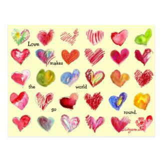 30 Valentinsgruß-Herz-Postkarte Postkarte