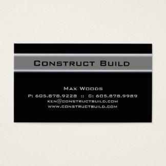 311 Bauunternehmer-MetallVisitenkarte 10 Visitenkarten