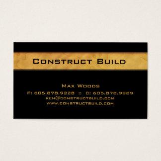 311 Bauunternehmer-Visitenkarte-Holz Gra Visitenkarte